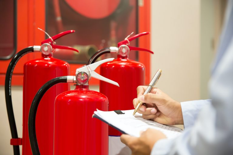 Engineer inspection Fire extinguisher.